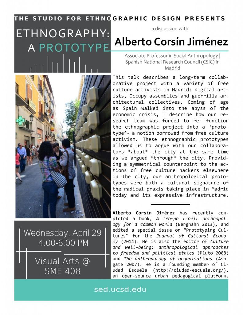 Jiménez SED event poster