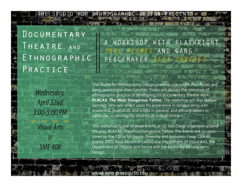 SED Placas Theatre Workshop Poster