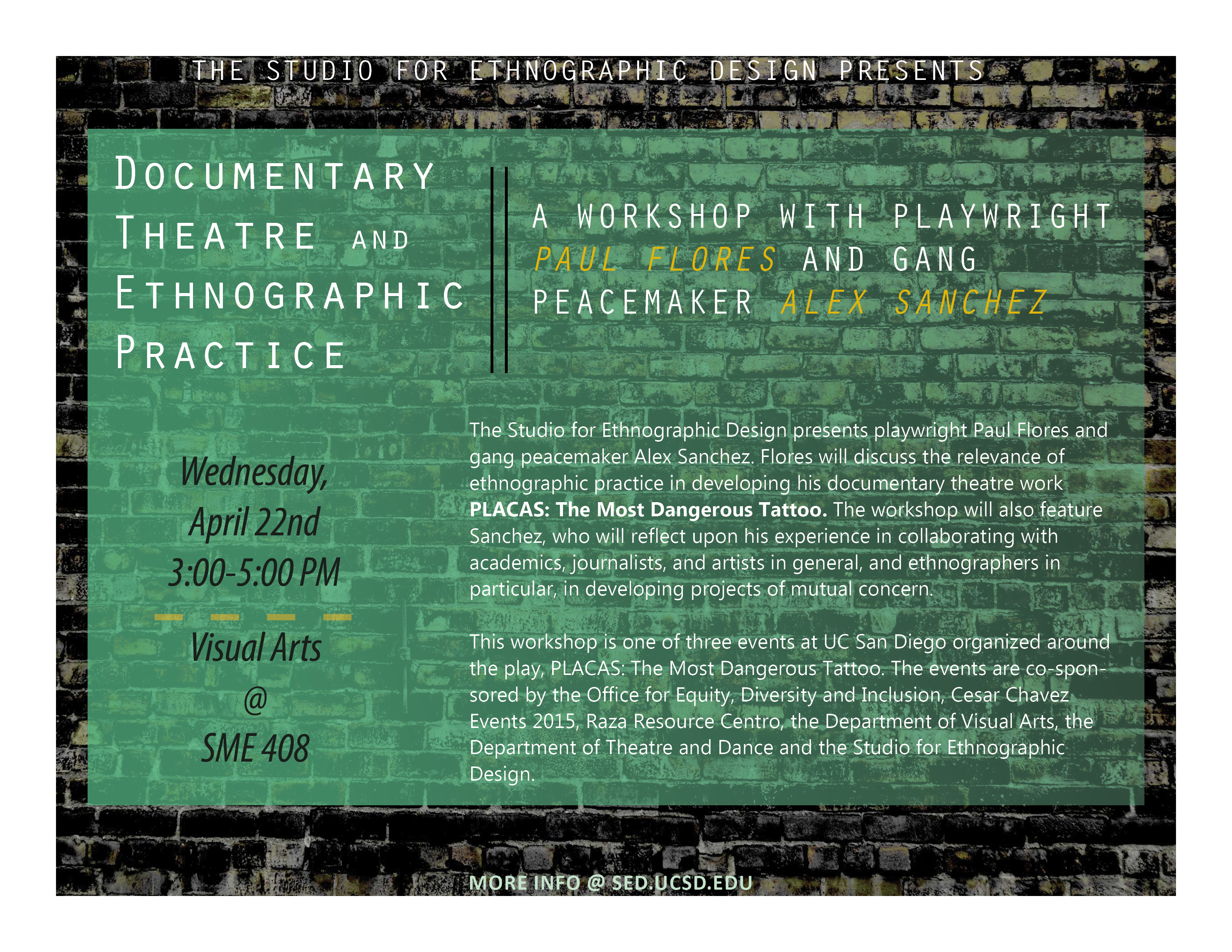Poster design documentary - Sed Placas Theatre Workshop Poster
